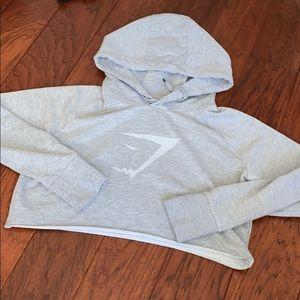 Gymshark gray cropped hoodie